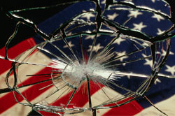 America Shattered Reflection