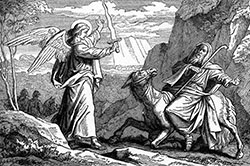 An Angel Met Balaam with a Sword