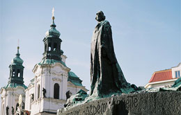 Martyr Jan Huss Statue